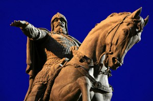 Высота памятника Юрию Долгорукому в Москве